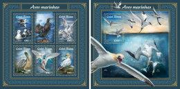 GUINEA BISSAU 2018 MNH** Sea Birds Seevögel Oiseaux De Mer M/S+S/S - IMPERFORATED - DH1805 - Vögel