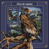 GUINEA BISSAU 2018 MNH** Birds Of Prey Greifvögel Raubvögel Oiseaux De Proie S/S - IMPERFORATED - DH1805 - Adler & Greifvögel