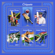 GUINEA BISSAU 2018 MNH** Cricket M/S - IMPERFORATED - DH1805 - Cricket