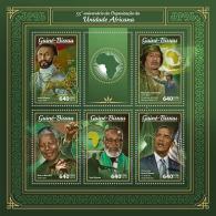GUINEA BISSAU 2018 MNH** Haile Selassie Gaddafi Nelson Mandela Barack Obama AOU M/S - IMPERFORATED - DH1805 - Persönlichkeiten