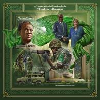 GUINEA BISSAU 2018 MNH** Kwame Nkrumah Angela Merkel Moussa Faki AOU S/S - IMPERFORATED - DH1805 - Persönlichkeiten
