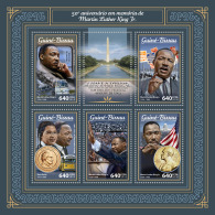 GUINEA BISSAU 2018 MNH** Martin Luther King M/S - IMPERFORATED - DH1805 - Martin Luther King