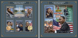GUINEA BISSAU 2018 MNH** Martin Luther King M/S+S/S - IMPERFORATED - DH1805 - Martin Luther King