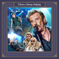 GUINEA BISSAU 2018 MNH** Johnny Hallyday S/S - IMPERFORATED - DH1805 - Musik