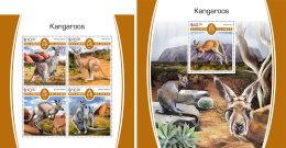SOLOMON ISLANDS 2017 MNH** Kangaroos Känguruh Kangourous M/S+S/S - OFFICIAL ISSUE - DH1805 - Briefmarken