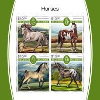 SOLOMON ISLANDS 2017 MNH** Horses Pferde Chevaux M/S - OFFICIAL ISSUE - DH1805 - Pferde