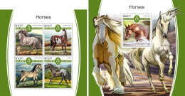 SOLOMON ISLANDS 2017 MNH** Horses Pferde Chevaux M/S+S/S - OFFICIAL ISSUE - DH1805 - Pferde