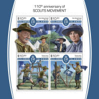 SOLOMON ISLANDS 2017 MNH** Scout Movement Pfadfinder Mouvement Scout M/S - OFFICIAL ISSUE - DH1805 - Pfadfinder-Bewegung