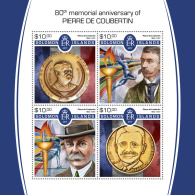SOLOMON ISLANDS 2017 MNH** Pierre Coubertin Olympa Olympic Games M/S - OFFICIAL ISSUE - DH1805 - Olympische Spiele