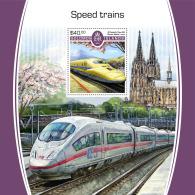 SOLOMON ISLANDS 2017 MNH** Speed Trains Schnellzüge Trains De Vitesse S/S - IMPERFORATED - DH1805 - Eisenbahnen