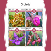 SOLOMON ISLANDS 2017 MNH** Orchids Orchideen Orchidees M/S - IMPERFORATED - DH1805 - Orchideen