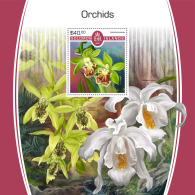 SOLOMON ISLANDS 2017 MNH** Orchids Orchideen Orchidees S/S - IMPERFORATED - DH1805 - Orchideen