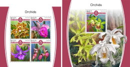 SOLOMON ISLANDS 2017 MNH** Orchids Orchideen Orchidees M/S+S/S - IMPERFORATED - DH1805 - Orchideen