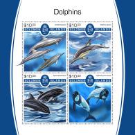 SOLOMON ISLANDS 2017 MNH** Dolphins Delfine Dauphins M/S - IMPERFORATED - DH1805 - Delfine