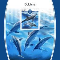 SOLOMON ISLANDS 2017 MNH** Dolphins Delfine Dauphins S/S - IMPERFORATED - DH1805 - Delfine