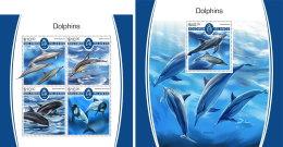 SOLOMON ISLANDS 2017 MNH** Dolphins Delfine Dauphins M/S+S/S - IMPERFORATED - DH1805 - Delfine
