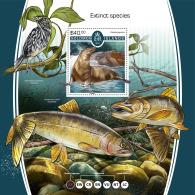 SOLOMON ISLANDS 2017 MNH** Extinct Animals Ausgestorbene Tiere Animaux Eteints S/S - IMPERFORATED - DH1805 - Briefmarken