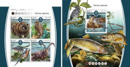 SOLOMON ISLANDS 2017 MNH** Extinct Animals Ausgestorbene Tiere Animaux Eteints M/S+S/S - IMPERFORATED - DH1805 - Briefmarken