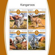 SOLOMON ISLANDS 2017 MNH** Kangaroos Känguruh Kangourous M/S - IMPERFORATED - DH1805 - Briefmarken