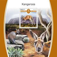 SOLOMON ISLANDS 2017 MNH** Kangaroos Känguruh Kangourous S/S - IMPERFORATED - DH1805 - Briefmarken