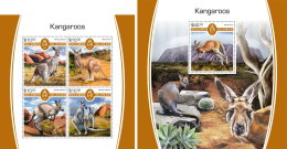 SOLOMON ISLANDS 2017 MNH** Kangaroos Känguruh Kangourous M/S+S/S - IMPERFORATED - DH1805 - Briefmarken