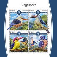 SOLOMON ISLANDS 2017 MNH** Kingfishers Eisvögel Martin-pecheurs M/S - IMPERFORATED - DH1805 - Vögel