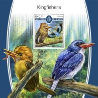 SOLOMON ISLANDS 2017 MNH** Kingfishers Eisvögel Martin-pecheurs S/S - IMPERFORATED - DH1805 - Vögel