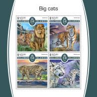 SOLOMON ISLANDS 2017 MNH** Big Cats Großkatzen Raubkatzen Gros Chats M/S - IMPERFORATED - DH1805 - Raubkatzen