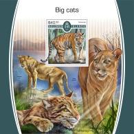 SOLOMON ISLANDS 2017 MNH** Big Cats Großkatzen Raubkatzen Gros Chats S/S - IMPERFORATED - DH1805 - Raubkatzen