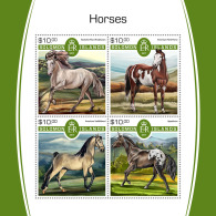 SOLOMON ISLANDS 2017 MNH** Horses Pferde Chevaux M/S - IMPERFORATED - DH1805 - Pferde