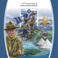 SOLOMON ISLANDS 2017 MNH** Scout Movement Pfadfinder Mouvement Scout S/S - IMPERFORATED - DH1805 - Pfadfinder-Bewegung