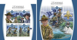 SOLOMON ISLANDS 2017 MNH** Scout Movement Pfadfinder Mouvement Scout M/S+S/S - IMPERFORATED - DH1805 - Pfadfinder-Bewegung