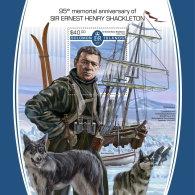 SOLOMON ISLANDS 2017 MNH** Sir Ernest Henry Shakleton S/S - IMPERFORATED - DH1805 - Antarktis-Expeditionen