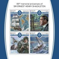 SOLOMON ISLANDS 2017 MNH** Sailing Ships Segelschiffe Shakleton Bateau A Voile M/S - IMPERFORATED - DH1805 - Schiffe