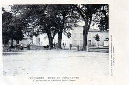 Cpa(17)--surgères - Rues Et Monuments L'abreuvoir Et L'avenue Saint-pierre. - Surgères
