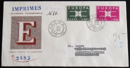GRIECHENLAND 1963 Mi-Nr. 821/22 CEPT FDC - Europa-CEPT