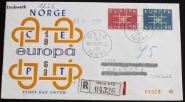 NORWEGEN 1963 Mi-Nr. 498/99 CEPT FDC - Europa-CEPT