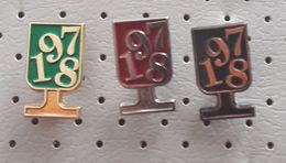 Happy New Year 1978 Wine Glass Slovenia Pins - Christmas