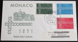 MONACO 1971 Mi-Nr. 1014/16 CEPT FDC - Europa-CEPT