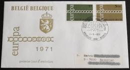 BELGIEN 1971 Mi-Nr. 1633/34 CEPT FDC - Europa-CEPT