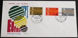 MALTA 1971 Mi-Nr. 422/24 CEPT FDC - Europa-CEPT