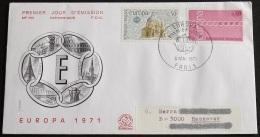 FRANKREICH 1971 Mi-Nr. 1748/49 CEPT FDC - Europa-CEPT