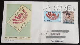 SPANIEN 1973 Mi-Nr. 2020/21 CEPT FDC - Europa-CEPT
