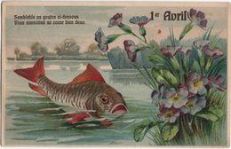 CPA - Carte Gaufrée - Poisson - 1er Avril - - 1 De April (pescado De Abril)