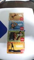 Angola-movicel-(25)-(125,250,500,1000taco)-used+1card Prepiad Free - Angola