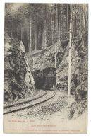 CPA - HAUTES VOSGES, LE TRAMWAY ELECTRIQUE DE LA SCHLUCHT DANS LA TRANCHE - Vosges, 88 - - Strassenbahnen