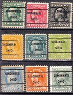 USA Precancel Vorausentwertung Preo, Locals Ohio, Cincinnati 209, 9 Diff. Perf. 11x11 - Vereinigte Staaten