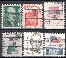 USA Precancel Vorausentwertung Preo, Locals Ohio, Cincinnati 853, 6 Diff. - Vereinigte Staaten