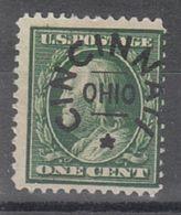USA Precancel Vorausentwertung Preo, Locals Ohio, Cincinnati L-4 E, Perf. 12x12 - Vereinigte Staaten