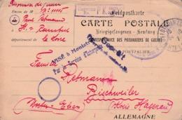 Carte Postal D'un Prisonnier De Guerre - WW I